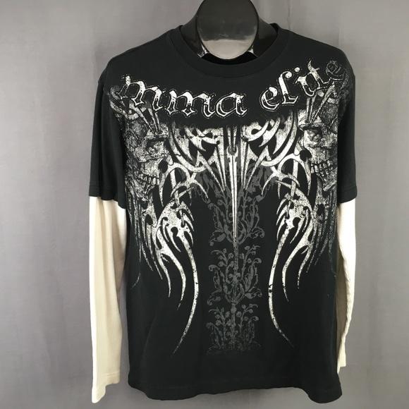 6e83b3b8 MMA Elite Shirts | T Shirt Size Medium Black White Mens | Poshmark